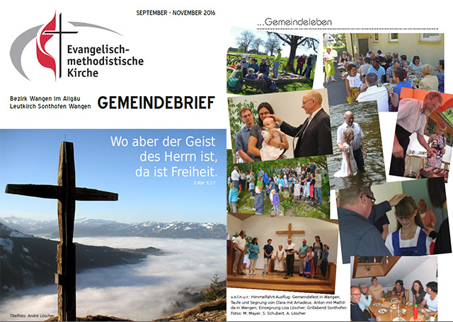 Gemeindebrief September - November 2016